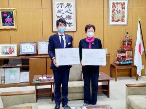 栃木営業所長と大川市長